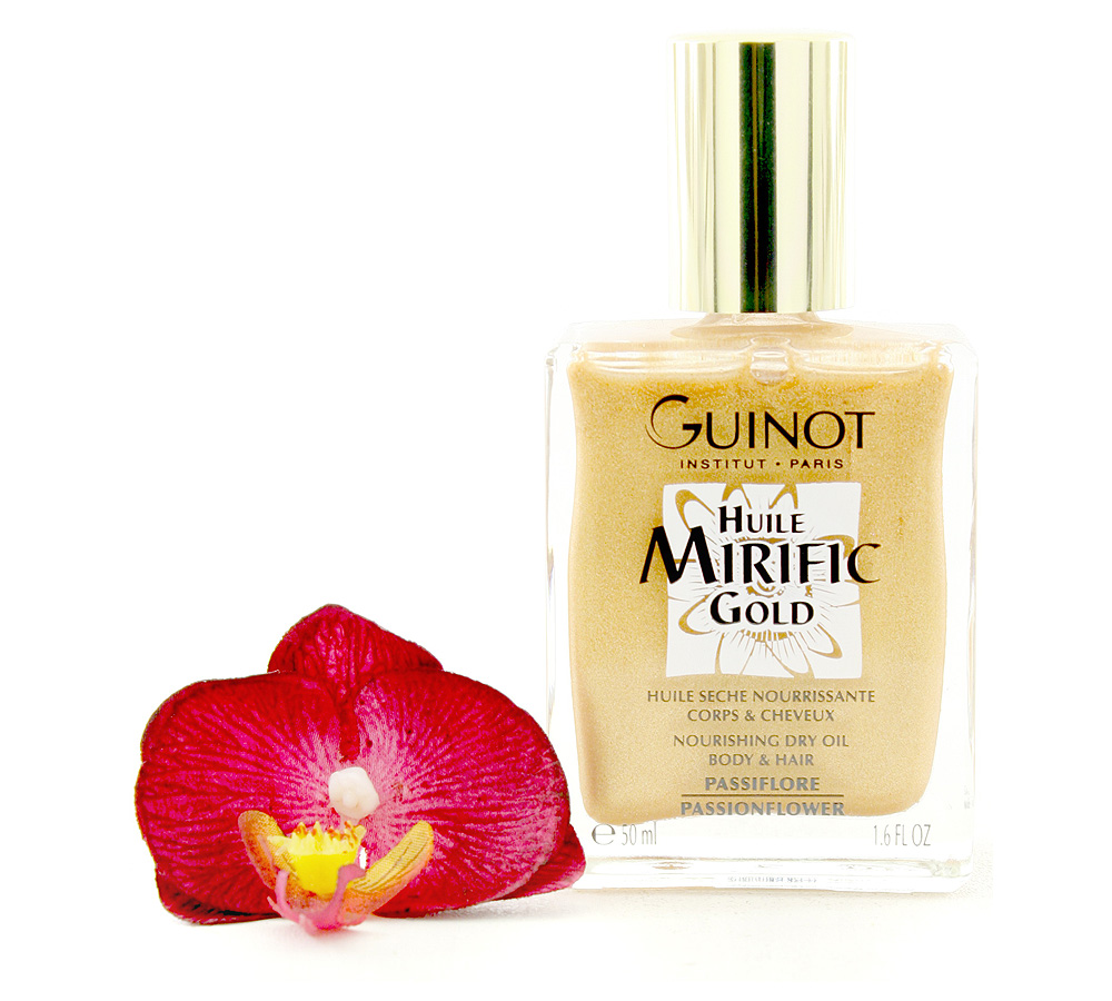 528176 Guinot Huile Mirific Gold - Nourishing Dry Oil Body & Hair 50ml