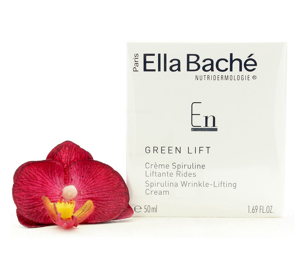 VE15019 Ella Bache Green Lift Creme Spiruline Liftante Rides - Spirulina Wrinkle-Lifting Cream 50ml