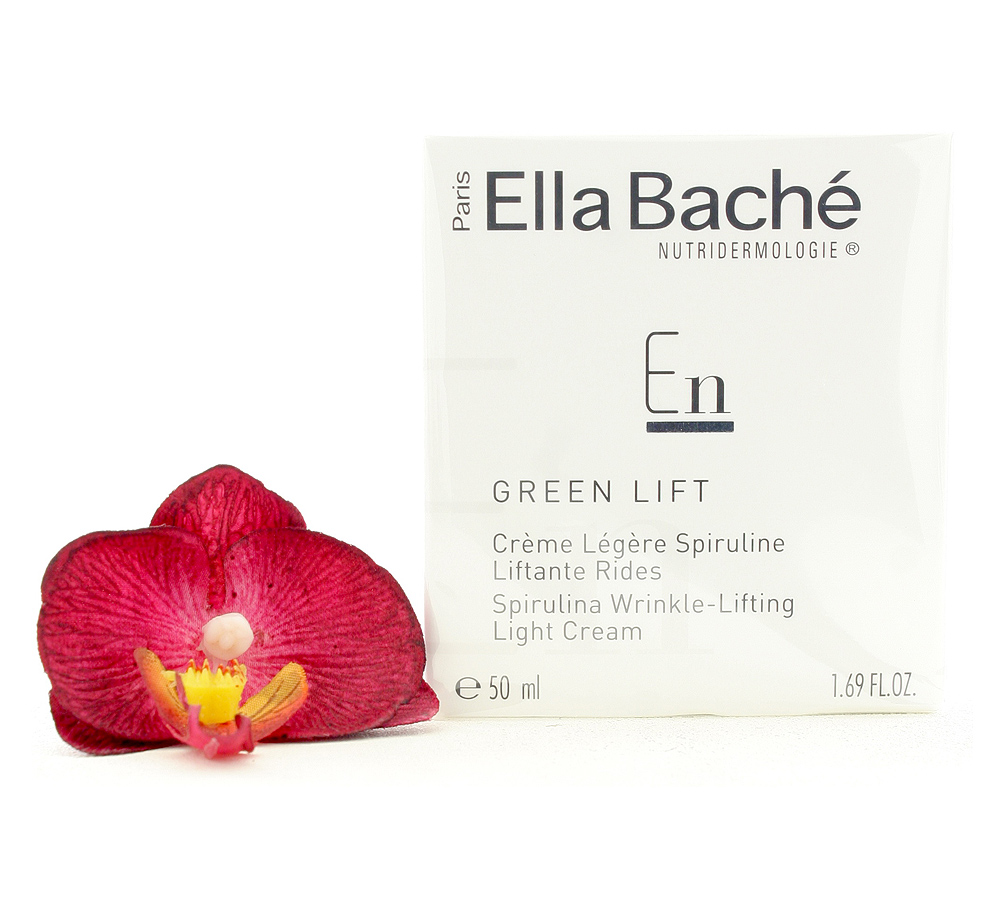 VE15020 Ella Bache Green Lift Creme Legere Spiruline Liftante Rides - Spirulina Wrinkle-Lifting Light Cream 50ml