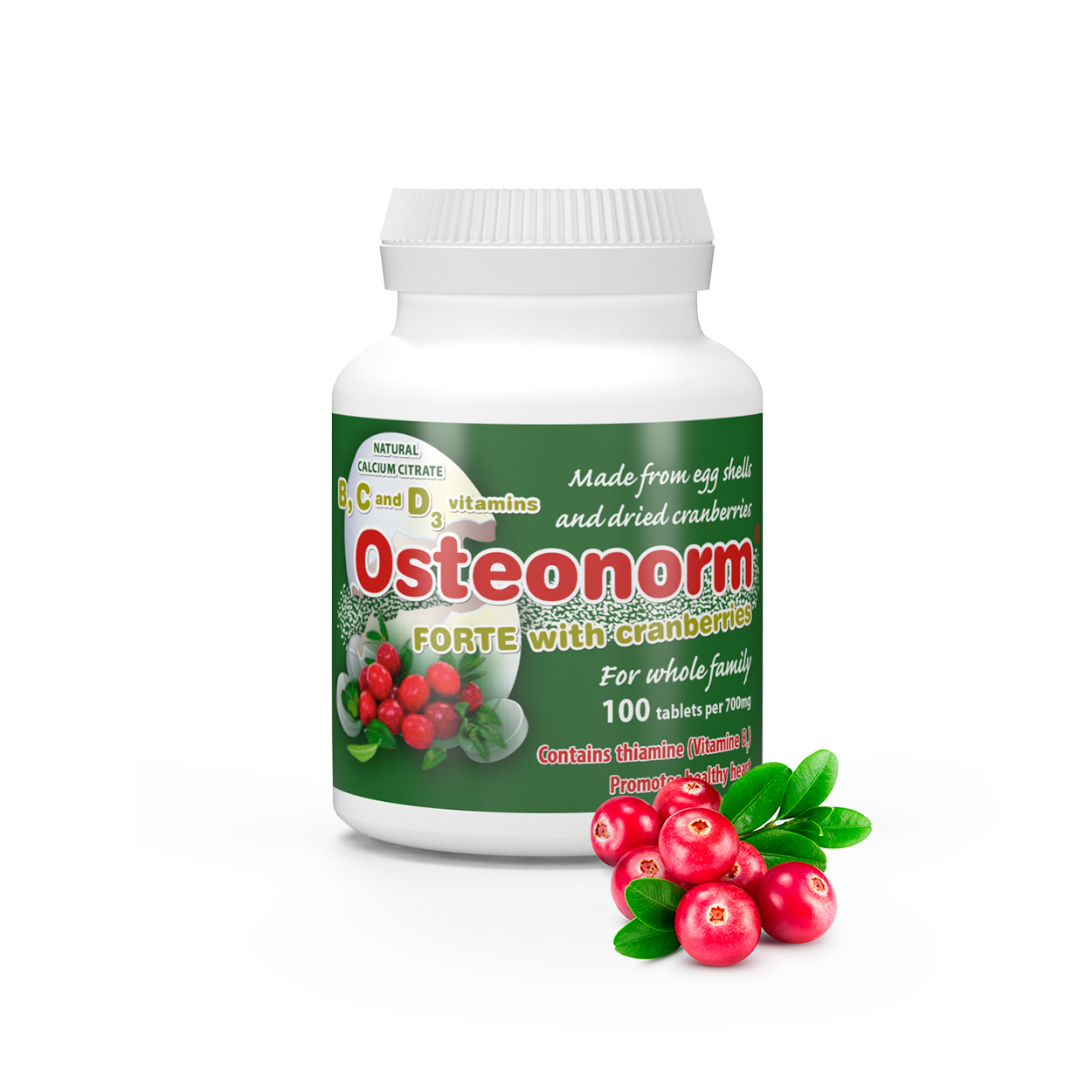 Osteonorm_Cranberries_02 Osteonorm FORTE with Cranberries 100 tablets per 700mg