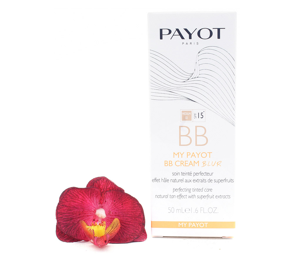 65108940 Payot My Payot BB Cream Blur Medium 02 SPF15 - Perfecting Tinted Care Natural Tan Effect 50ml