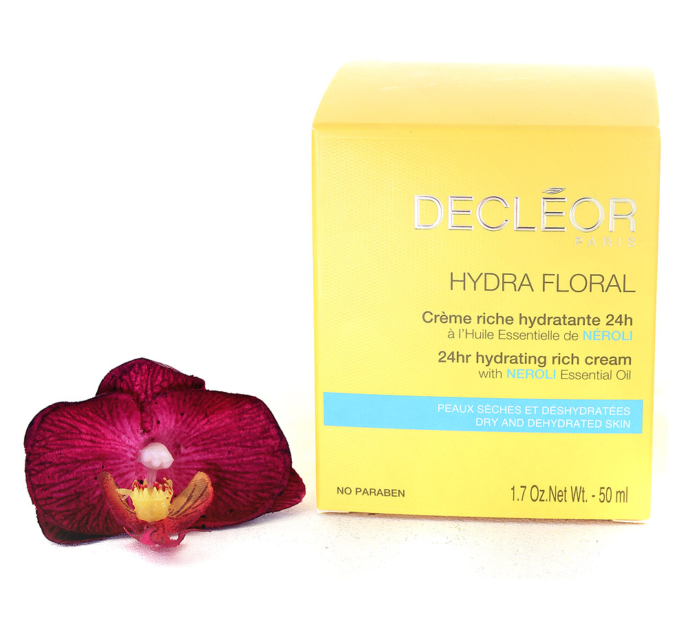 DR537000 Decleor Hydra Floral 24hr Hydrating Rich Cream - Creme Riche Hydratante 24h 50ml