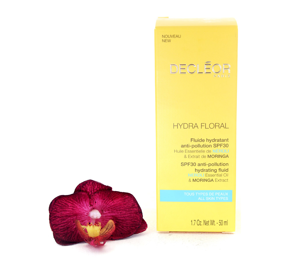 DR561000 Decleor Hydra Floral SPF30 Anti-Pollution Hydrating Fluid - Fluide Hydratant Anti-Pollution 50ml