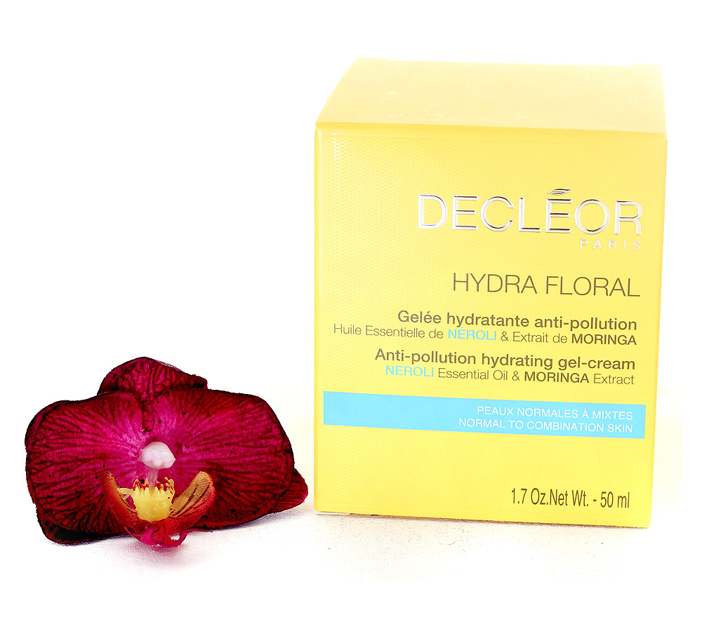 DR563000 Decleor Hydra Floral Gelée Hydratante Anti-Pollution - Anti-Pollution Hydrating Gel-Cream 50ml