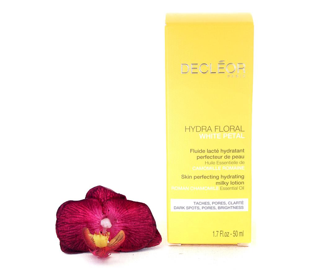 DR626001 Decleor Hydra Floral White Petal Skin Perfecting Hydrating Milky Lotion - Fluide Lacte Hydratant Perfecteur de Peau 50ml