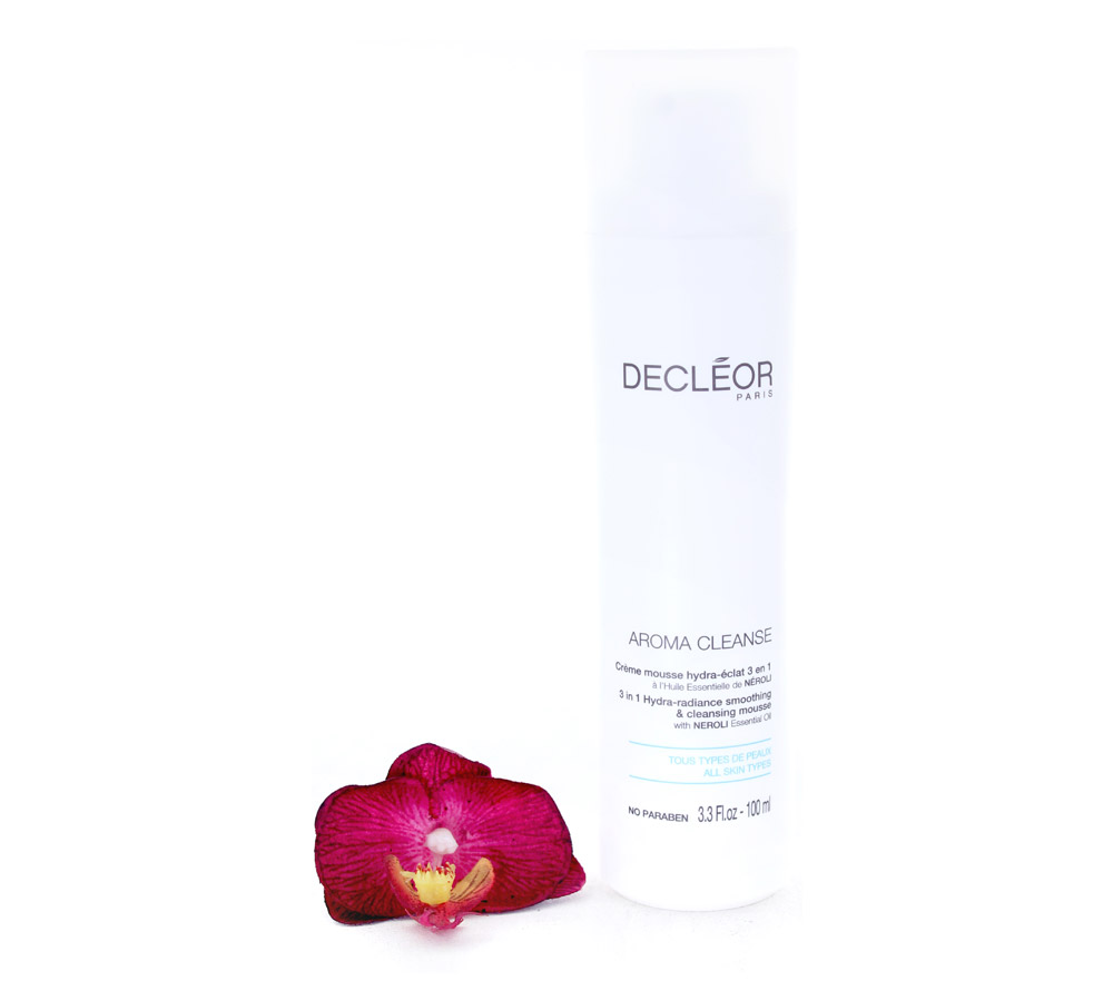 DR219001 Decleor Aroma Cleanse Crème Mousse Hydra-Éclat 3 en 1 - 3 in 1 Hydra-Radiance Smoothing & Cleansing Mousse 100ml