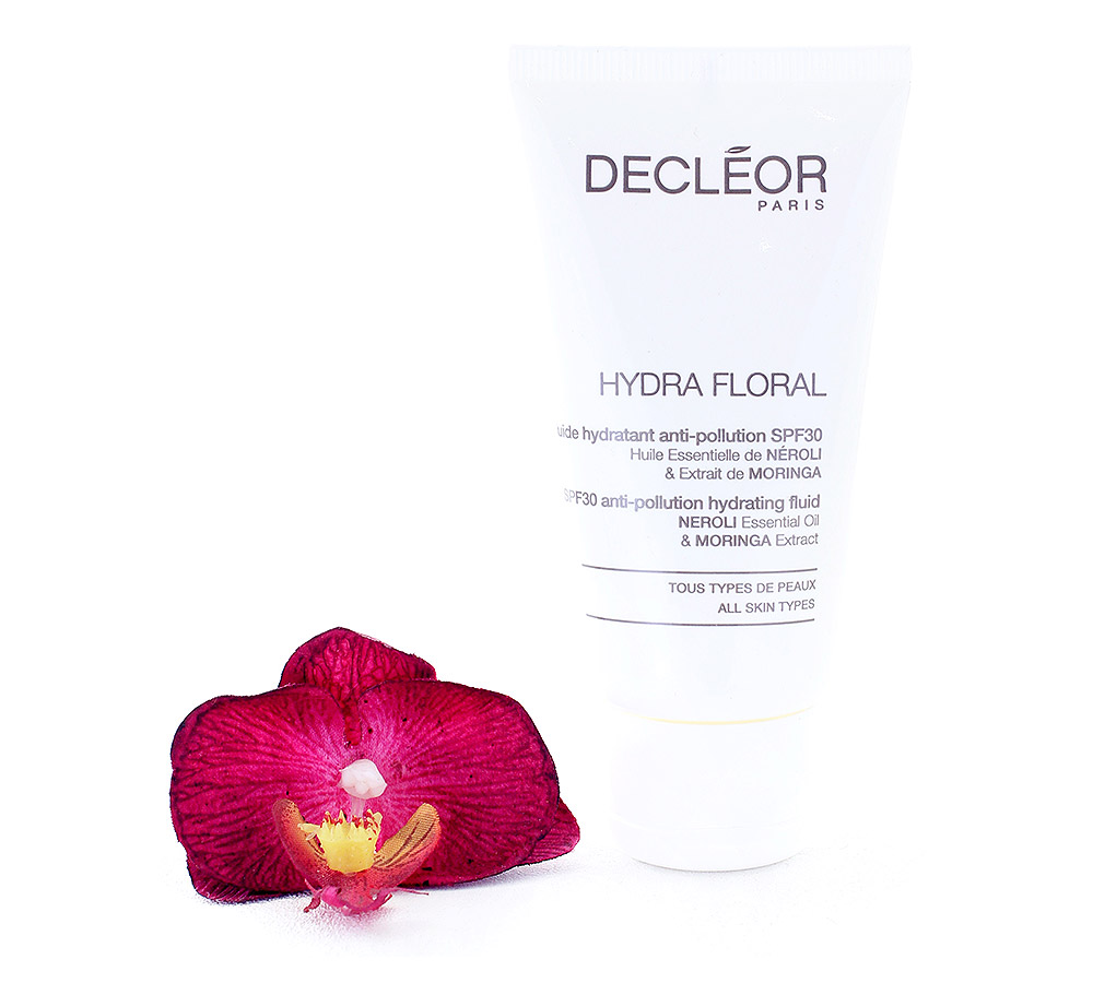 DR561050 Decleor Hydra Floral SPF30 Anti-Pollution Hydrating Fluid - Fluide Hydratant Anti-Pollution 50ml