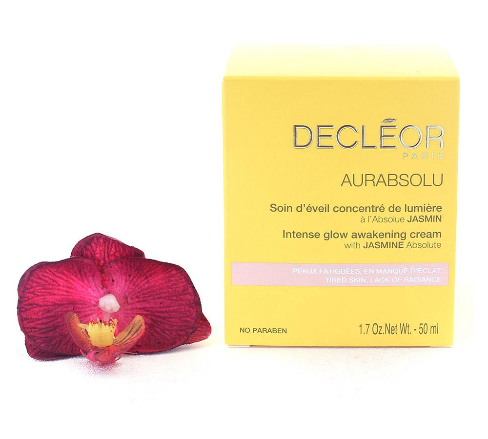 DR631000 Decleor Aurabsolu Intense Glow Awakening Cream - Soin d'Eveil Concentre de Lumiere 50ml