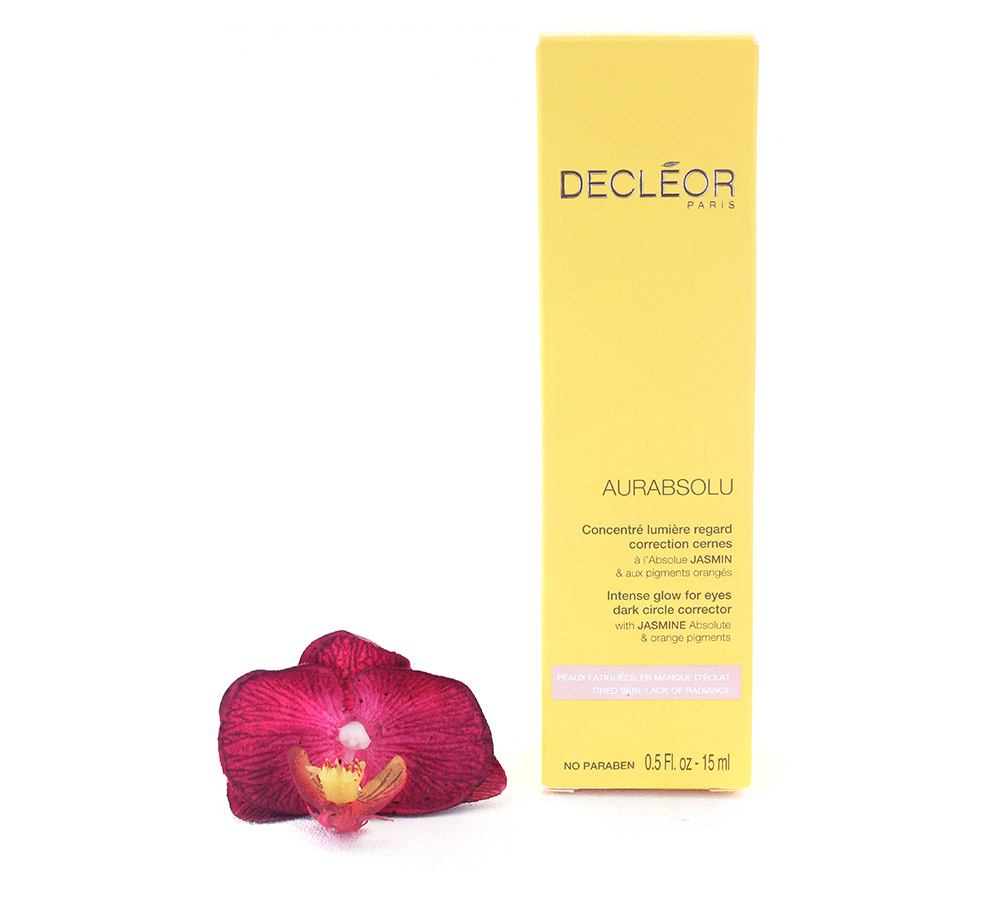 DR635000 Decleor Aurabsolu Intense Glow for Eyes Dark Circle Corrector - Concentre Lumiere Regard Correction Cernes 15ml