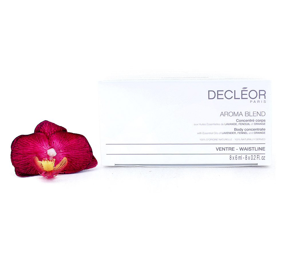 DR678050 Decleor Aroma Blend Concentré Corps Ventre - Body Concentrate Waistline 8x6ml