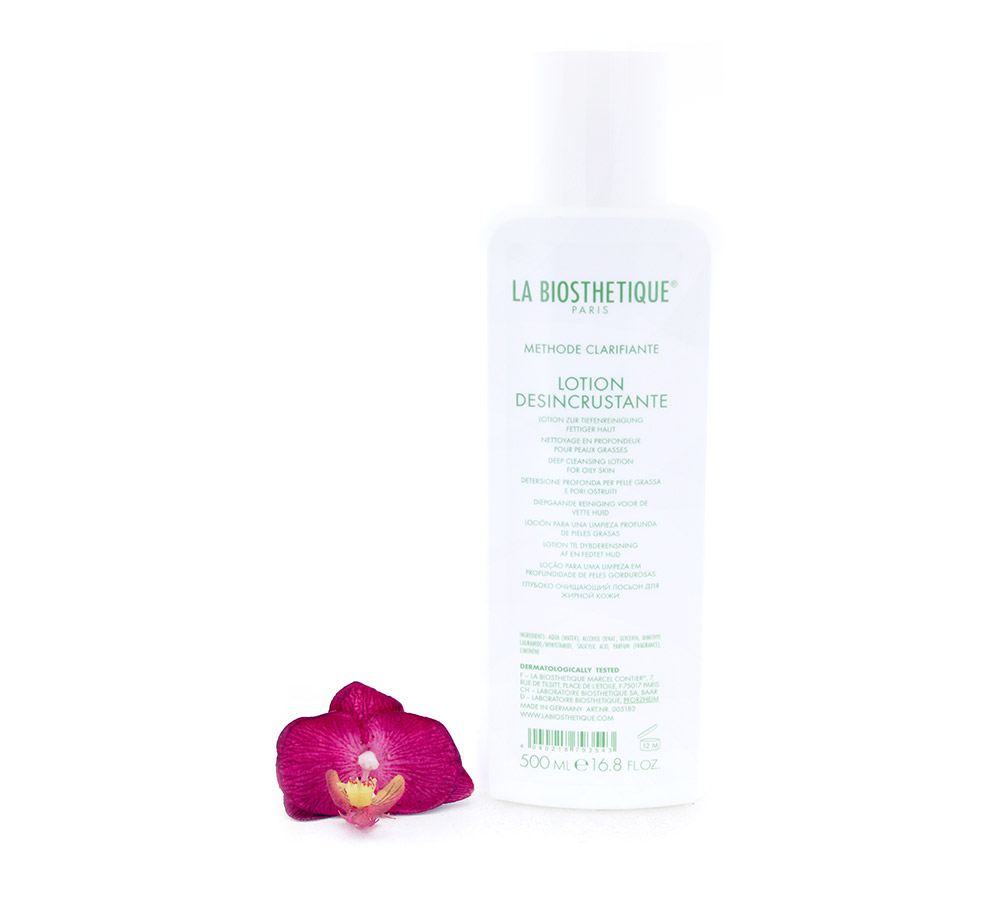 005182 La Biosthetique Lotion Desincrustante - Deep Cleansing Lotion for Oily Skin 500ml