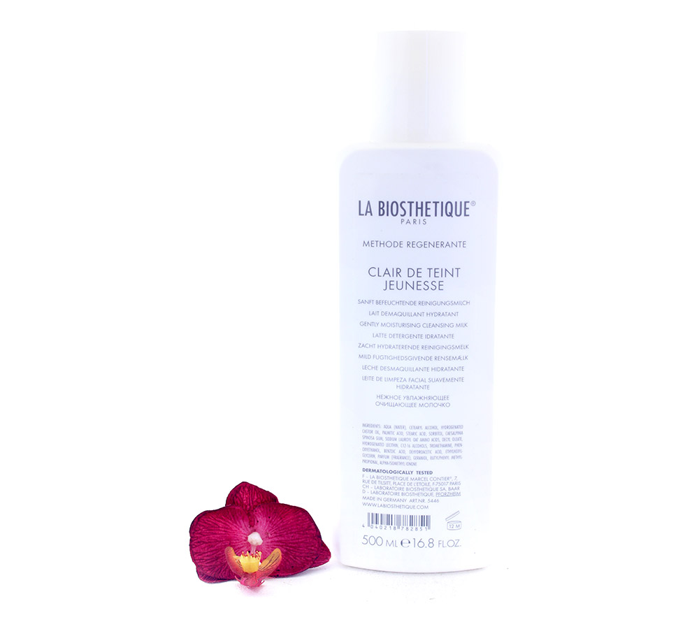 005446 La Biosthetique Clair de Teint Jeunesse - Gently Moisturising Cleansing Milk 500ml