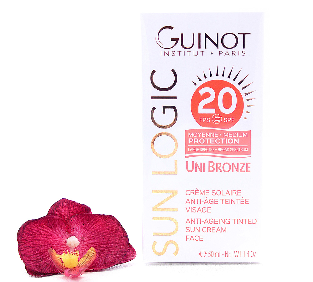 26515060 Guinot Sun Logic Uni Bronze - Anti-Ageing Tinted Sun Cream Face SPF20 50ml