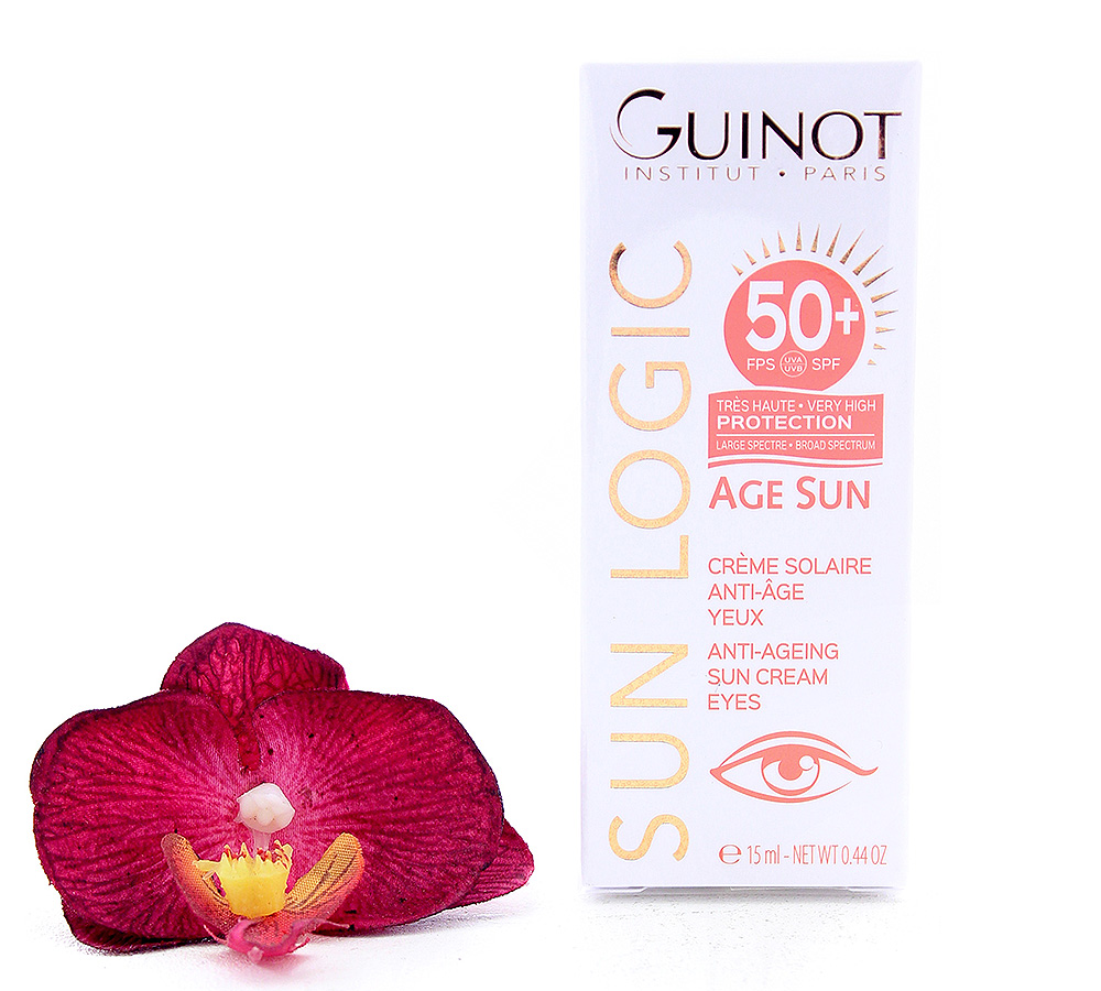 515030 Guinot Sun Logic Age Sun - Anti-Ageing Sun Cream Eyes SPF50+ 15ml