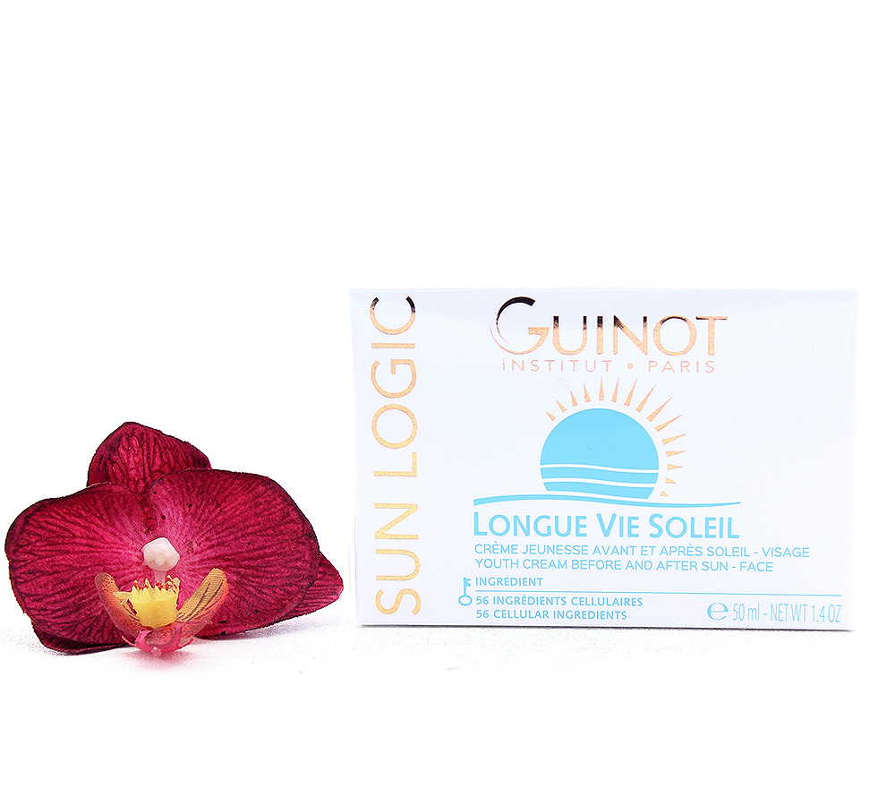 515010 Guinot Sun logic Longue Vie Soleil - Youth Cream Before and After Sun - Face 50ml