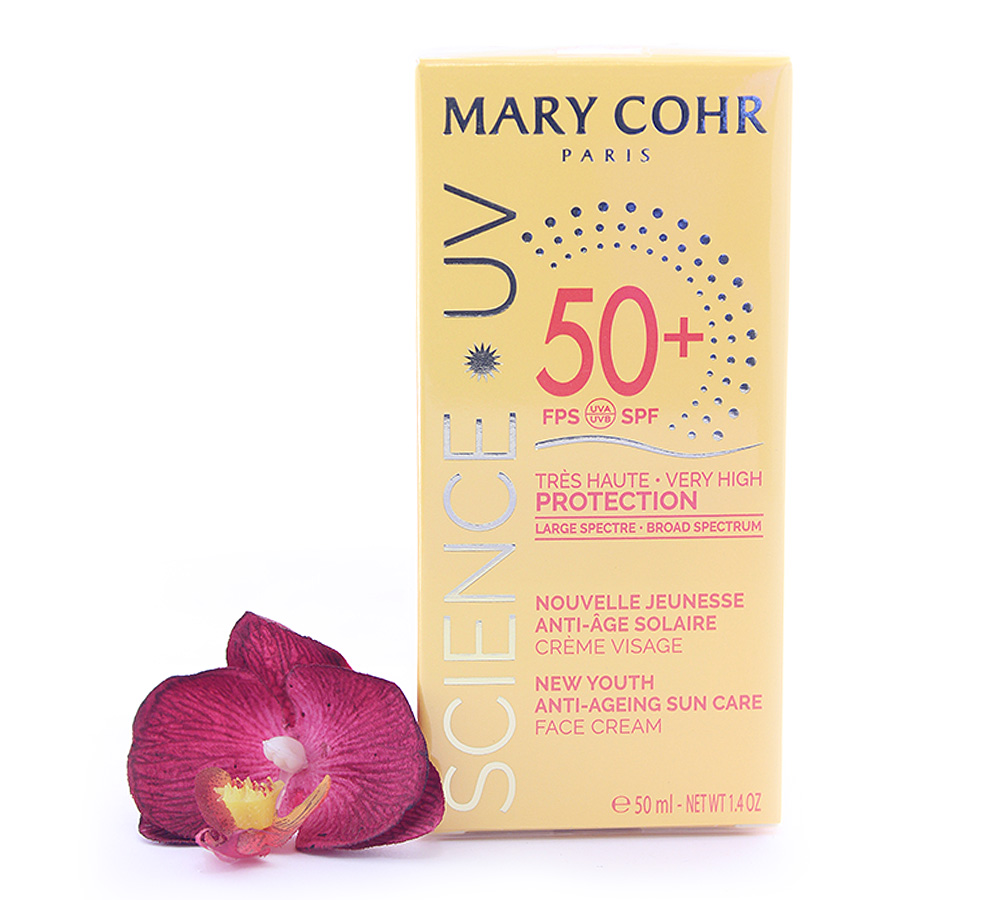 893850 Mary Cohr Science UV New Youth Anti-Ageing Sun Care - Very High Face Cream SPF50+ 50ml