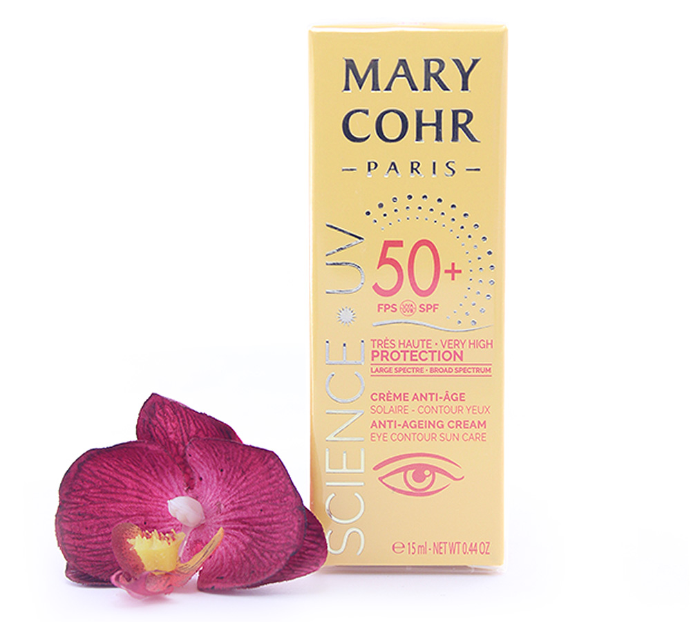 893860 Mary Cohr Science UV Anti-Ageing Cream - Eye Countour Sun Care SPF50+ 15ml