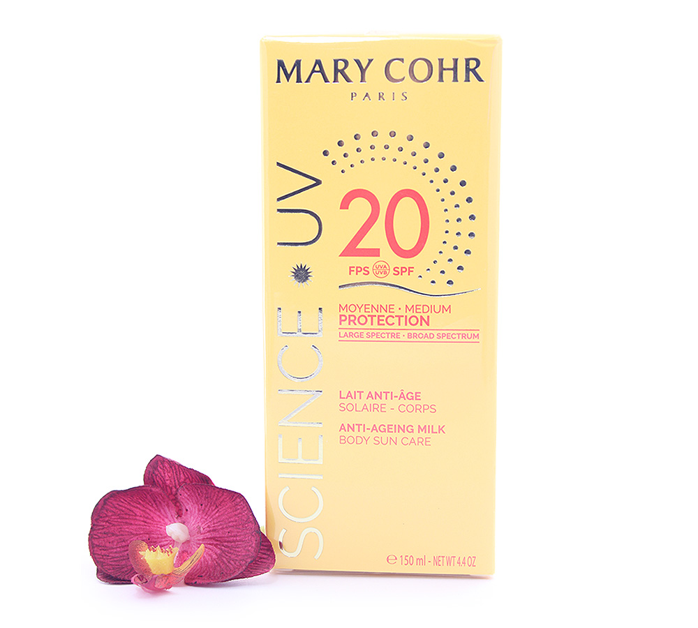 893920 Mary Cohr Science UV Anti-Ageing Milk - Medium Protection Body Sun Care SPF20 150ml