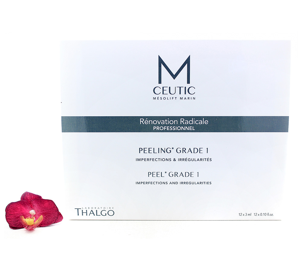 KT17020 Thalgo M-Ceutic Peel Box Grade 1 12x3ml