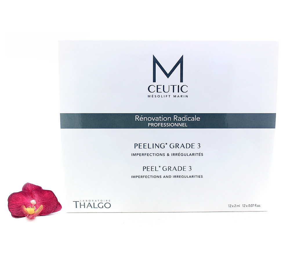 KT17022 Thalgo M-Ceutic Peel Box Grade 3 12x2ml