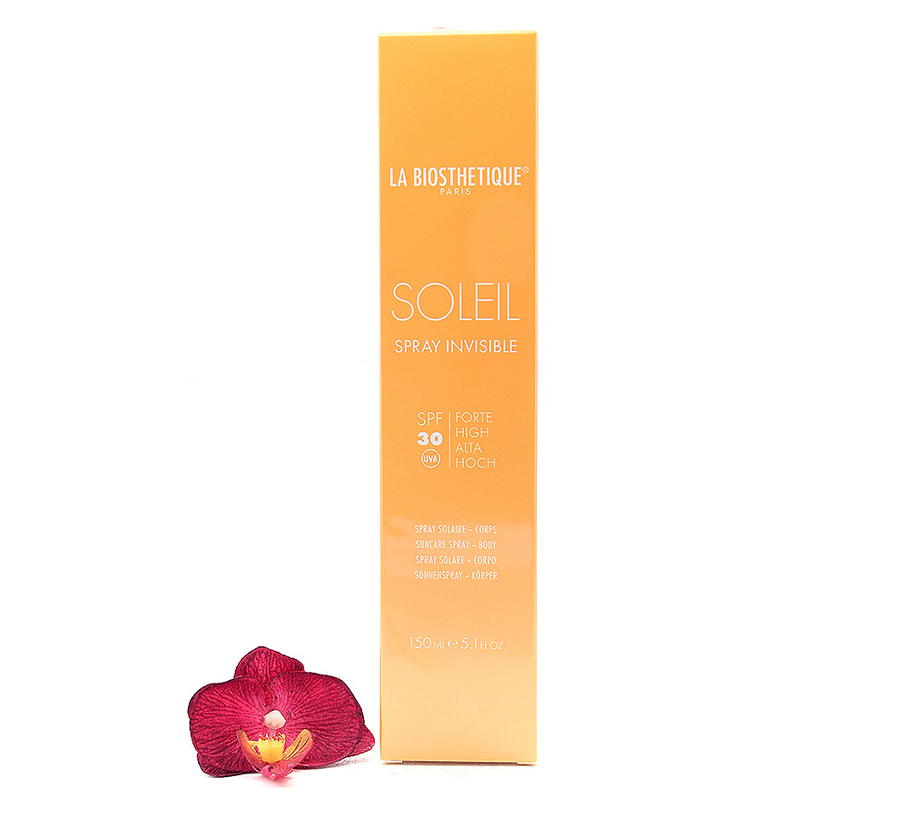002893 La Biosthetique Soleil Spray Invisible SPF30 - Suncare Body Spray 150ml
